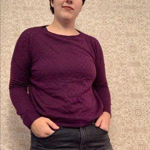 Vince Camuto Magenta Purple Light Sweater